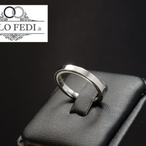 FEDE Cerchio di Luce 2.5mm in ORO Bianco - Unoaerre Torino