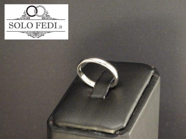 FEDE COMODA 3.0 mm in ORO Bianco a Torino