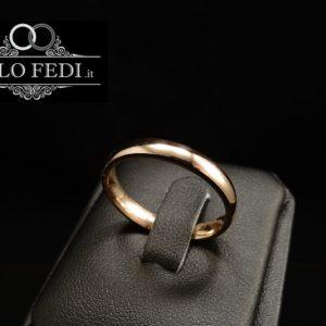 fede matrimoniale comoda oro rosa