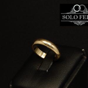 fede matrimoniale classica italiana oro