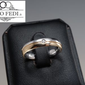 Fede BICOLORE con DIAMANTE