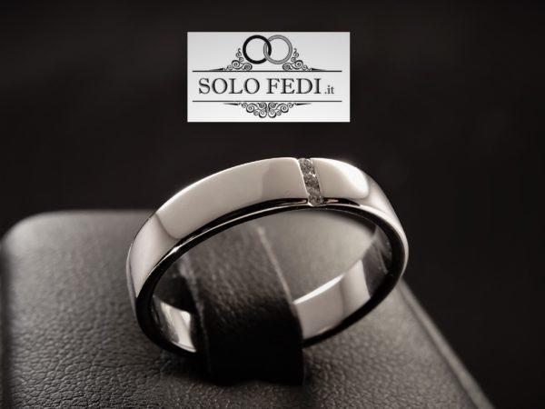 Polello - Fede piatta con Trilogy di Diamanti - Solo Fedi Torino