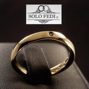 Polello - Fede con gambo ritorto e Diamanti - Solo Fedi Torino