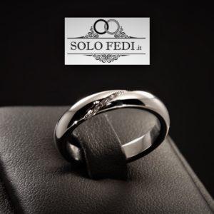 Polello - Fede classica in oro bianco e Diamanti - Solo Fedi Torino